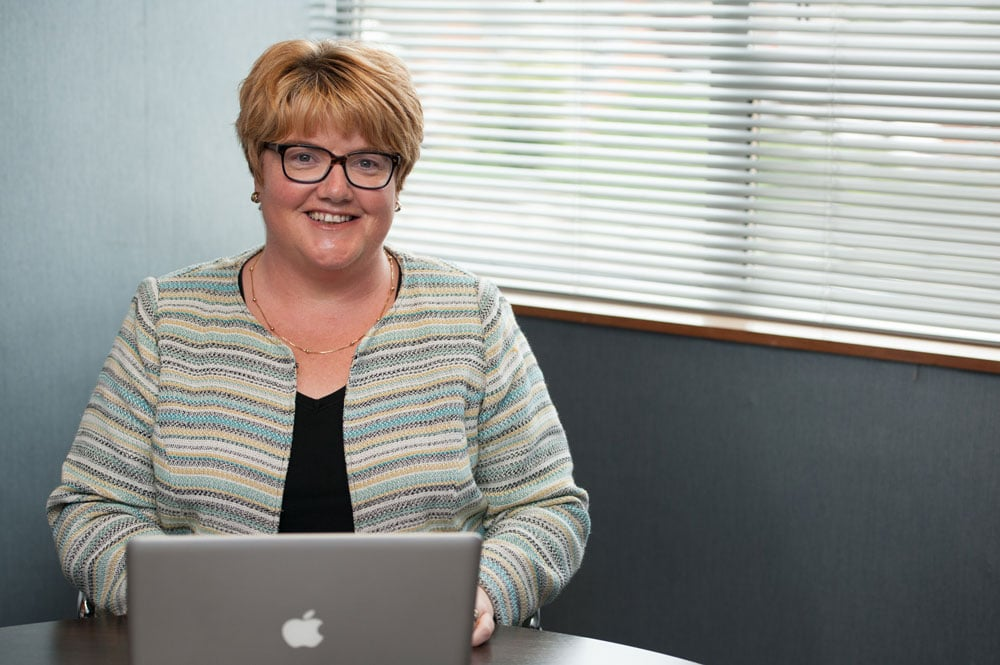 Sue Rees with laptop